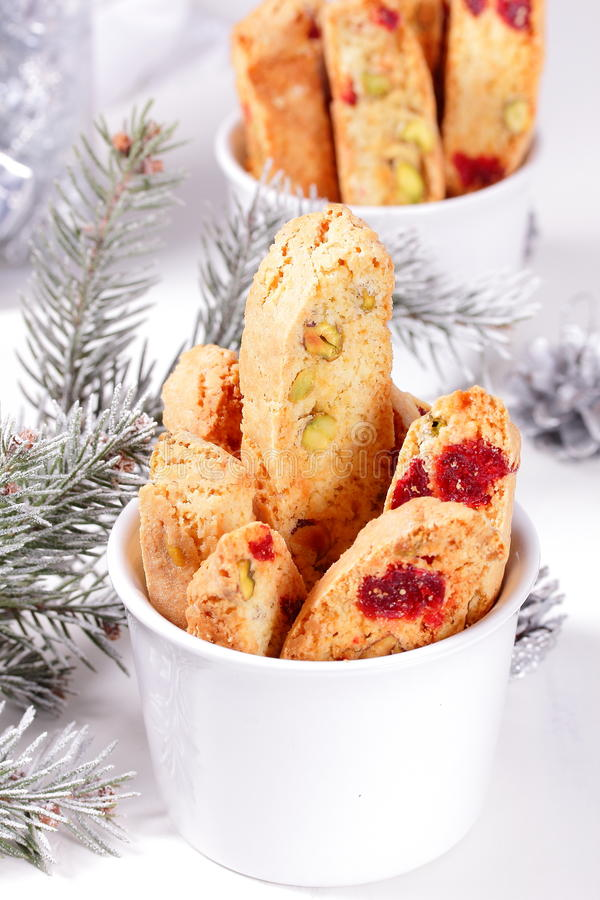 Biscotti com pistachios. fotos de stock royalty free