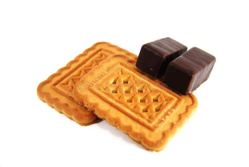 Biscotti con cioccolato fotografie stock libere da diritti
