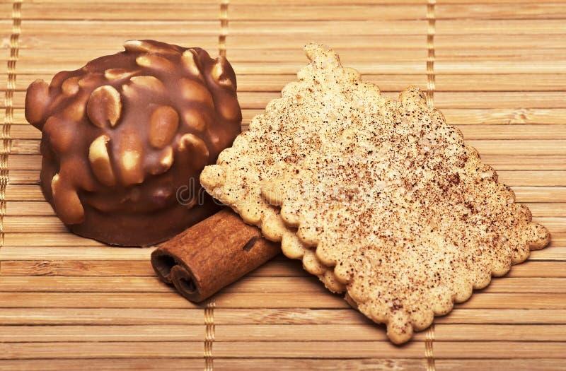 Biscotti con cioccolato fotografia stock libera da diritti