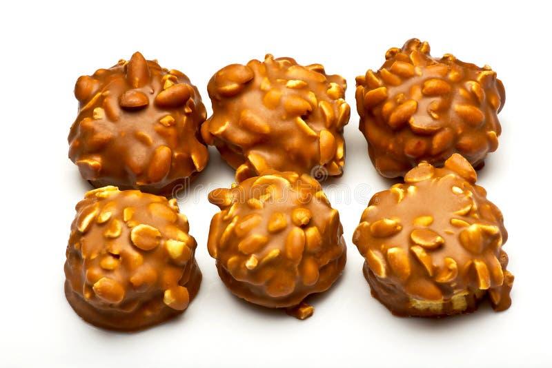 Biscotti con cioccolato immagini stock libere da diritti