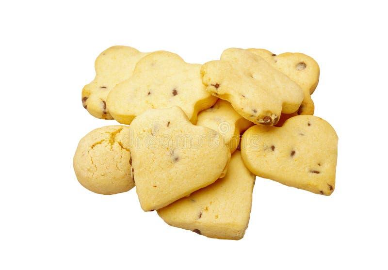 Biscotti con cioccolato fotografie stock
