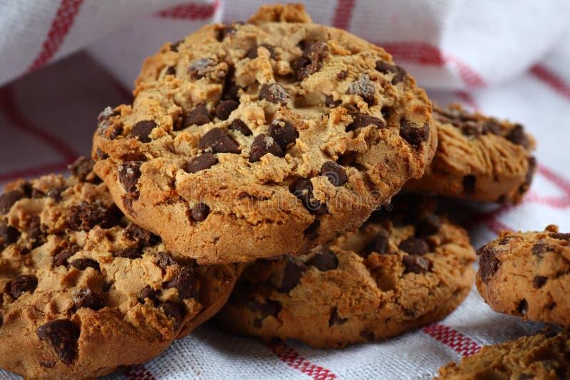Biscotti con cioccolato fondente immagine stock
