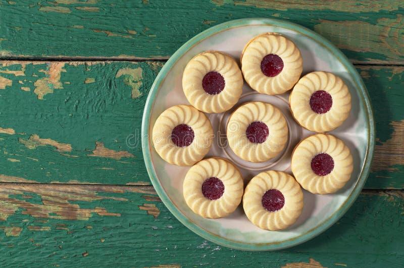 Biscotti con ostruzione fotografie stock libere da diritti