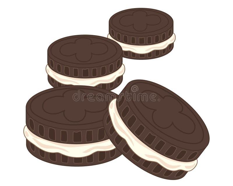 Biscotti crema illustrazione di stock