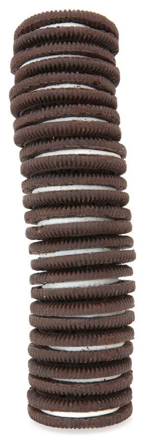Biscotti crema del cioccolato immagini stock