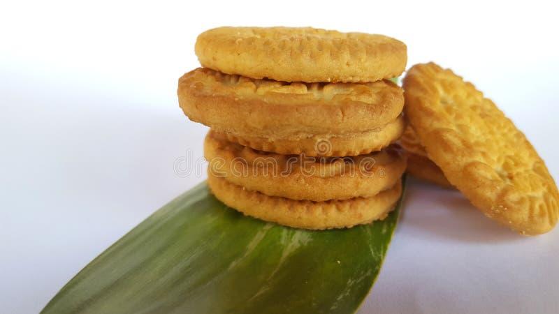 Biscotti croccanti, l'alimento complementare del bambino fotografie stock libere da diritti