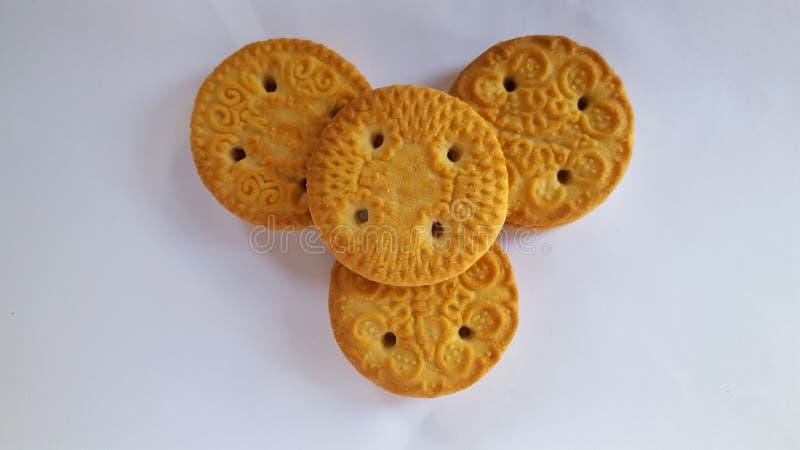 Biscotti croccanti, l'alimento complementare del bambino immagine stock libera da diritti
