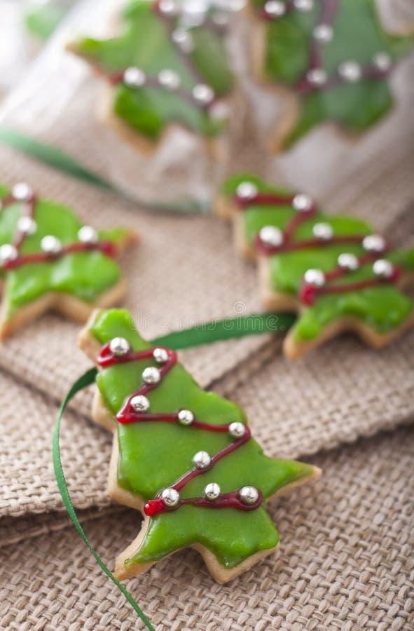Biscotti decorati di natale fotografia stock