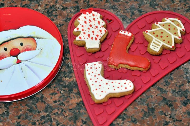 Biscotti decorativi di natale fotografie stock libere da diritti