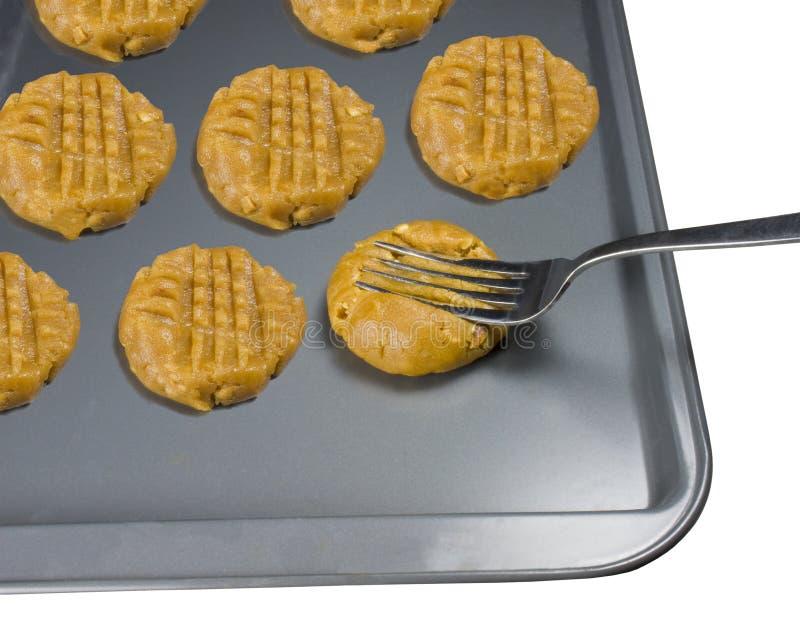 Biscotti del burro di arachide fotografia stock