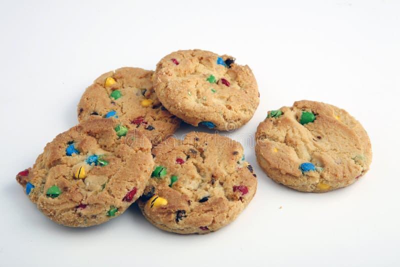 biscotti del chip del Rainbow fotografie stock libere da diritti