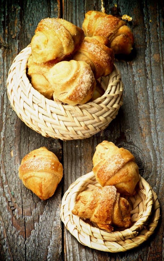 Biscotti del croissant immagini stock