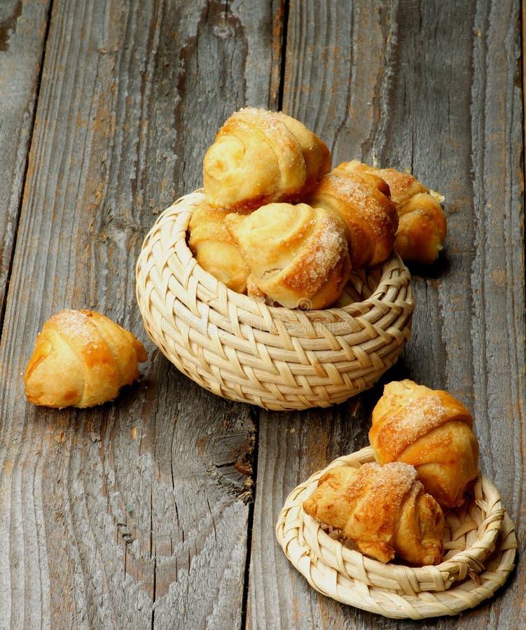 Biscotti del croissant fotografie stock