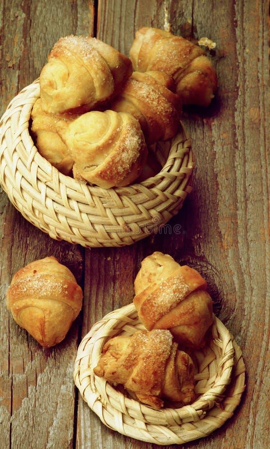Biscotti del croissant immagine stock