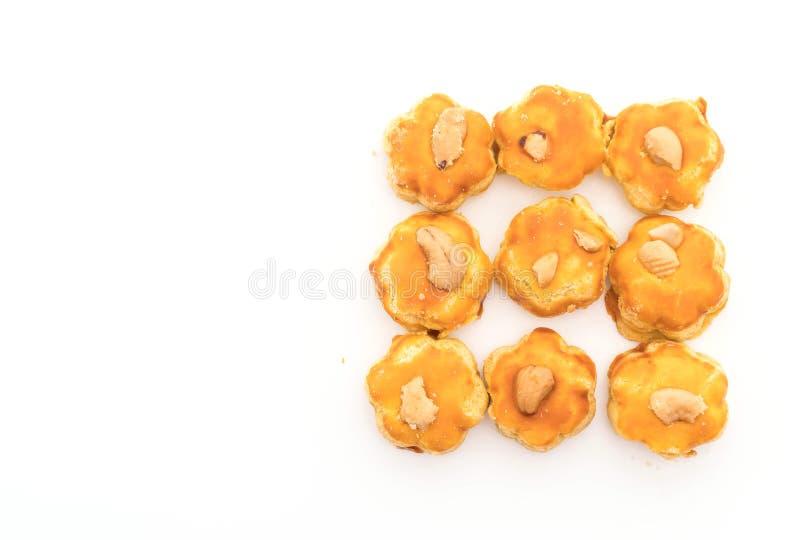 biscotti del durian su bianco immagini stock