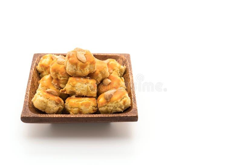 biscotti del durian su bianco fotografia stock