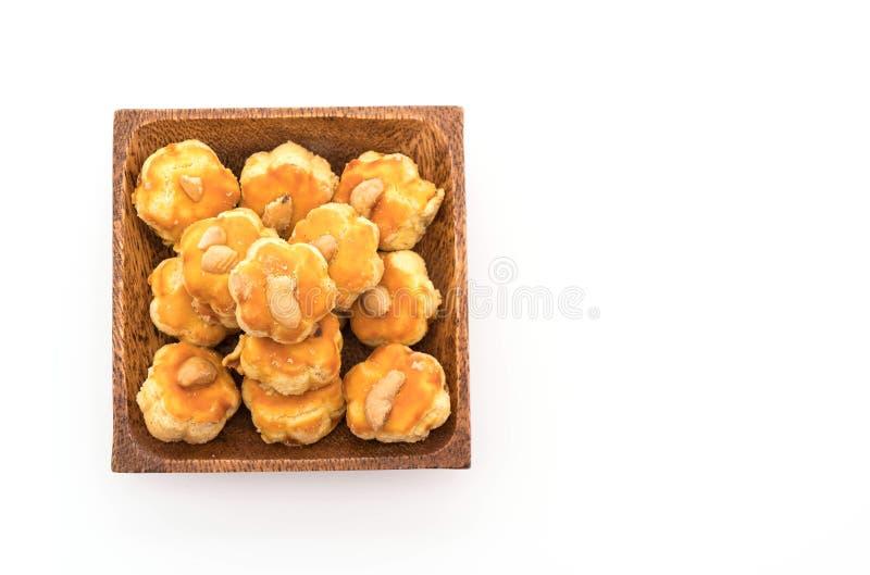 biscotti del durian su bianco fotografie stock libere da diritti