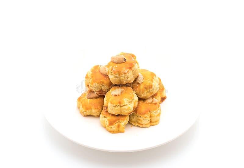 biscotti del durian su bianco fotografia stock libera da diritti