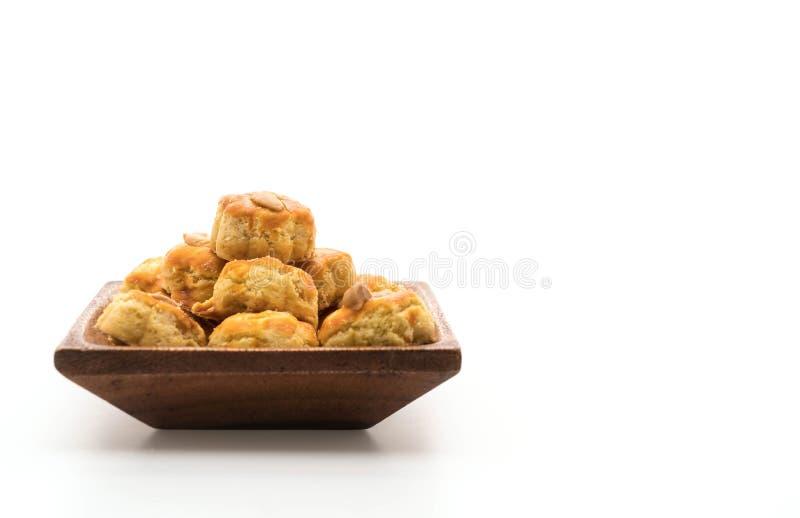 biscotti del durian su bianco fotografie stock