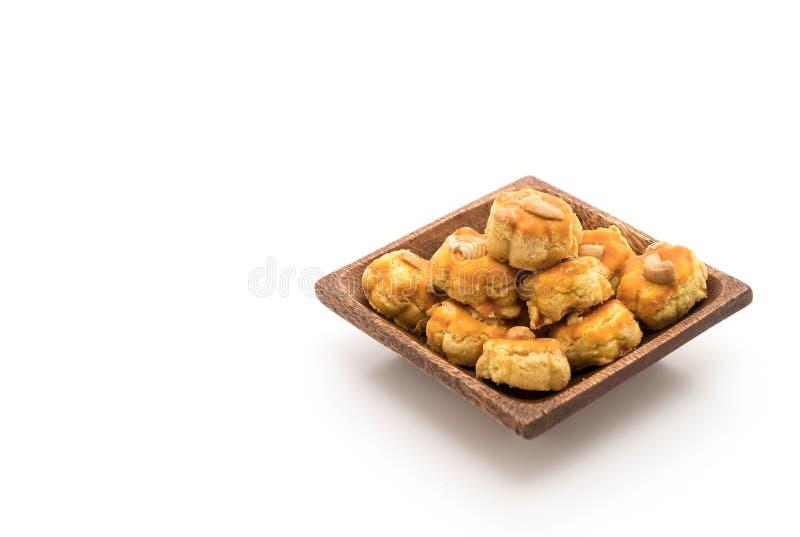 biscotti del durian su bianco immagine stock libera da diritti