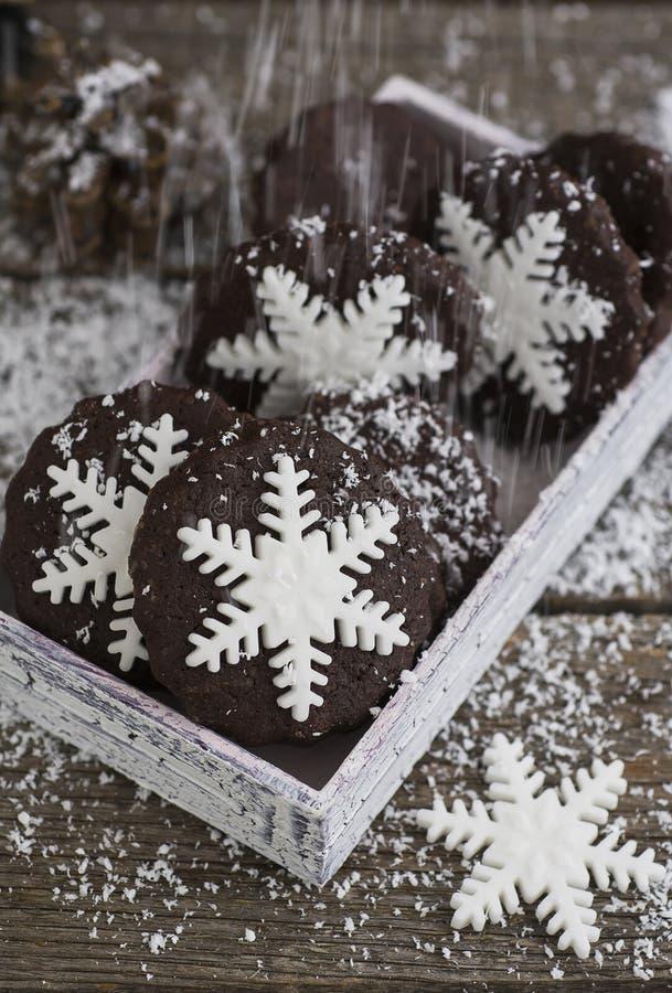 Biscotti del fiocco di neve immagini stock