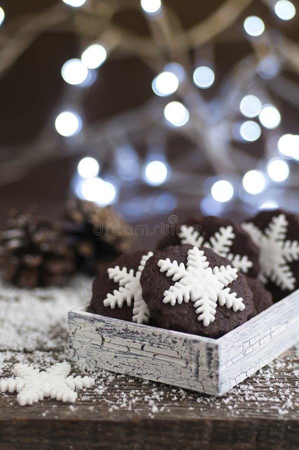 Biscotti del fiocco di neve fotografia stock