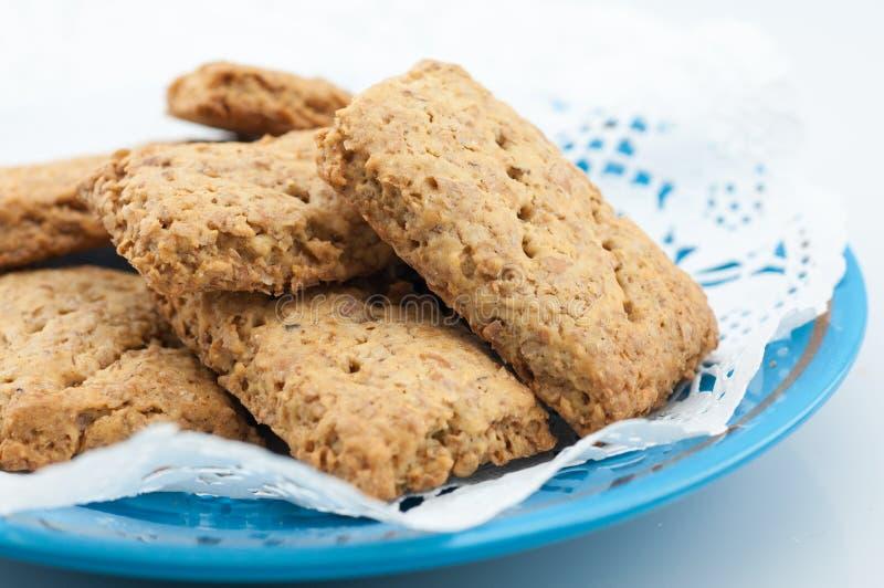 Biscotti del grano intero fotografia stock