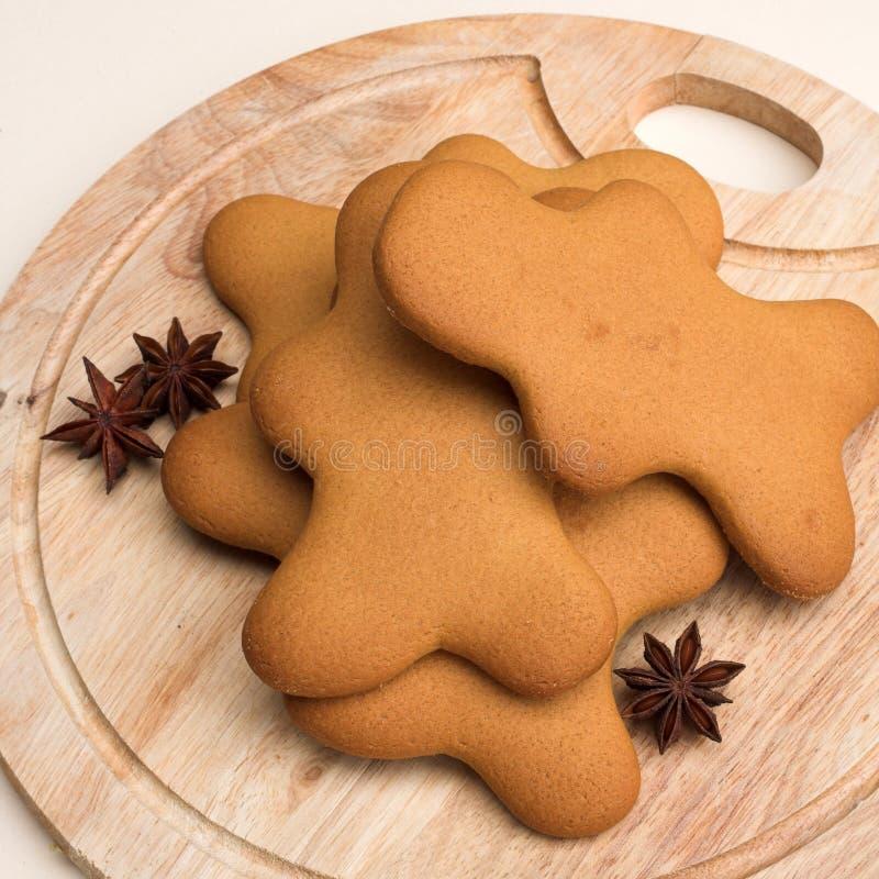 Biscotti del pan di zenzero immagini stock libere da diritti