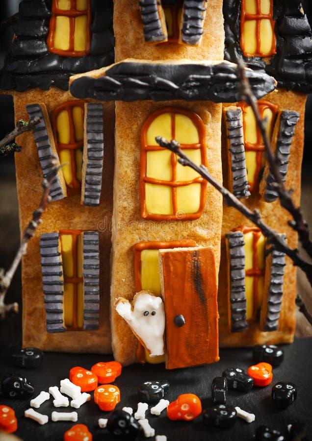 Biscotti del pan di zenzero di Halloween fotografia stock libera da diritti