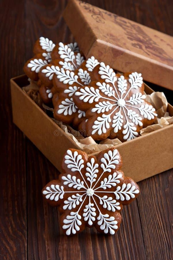 Biscotti del pan di zenzero di Natale fotografie stock libere da diritti