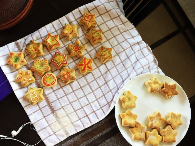 Biscotti del pan di zenzero di Natale fotografie stock