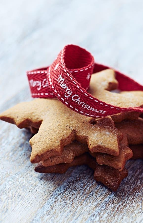 Biscotti del pan di zenzero per natale immagini stock