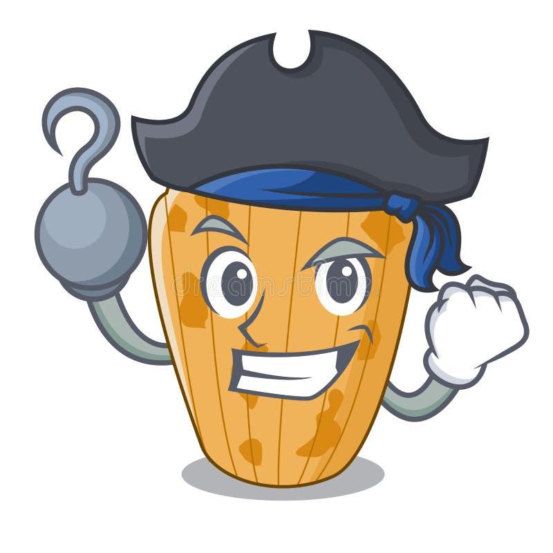Biscotti del pirata nel fumetto di Madeleine della forma illustrazione vettoriale