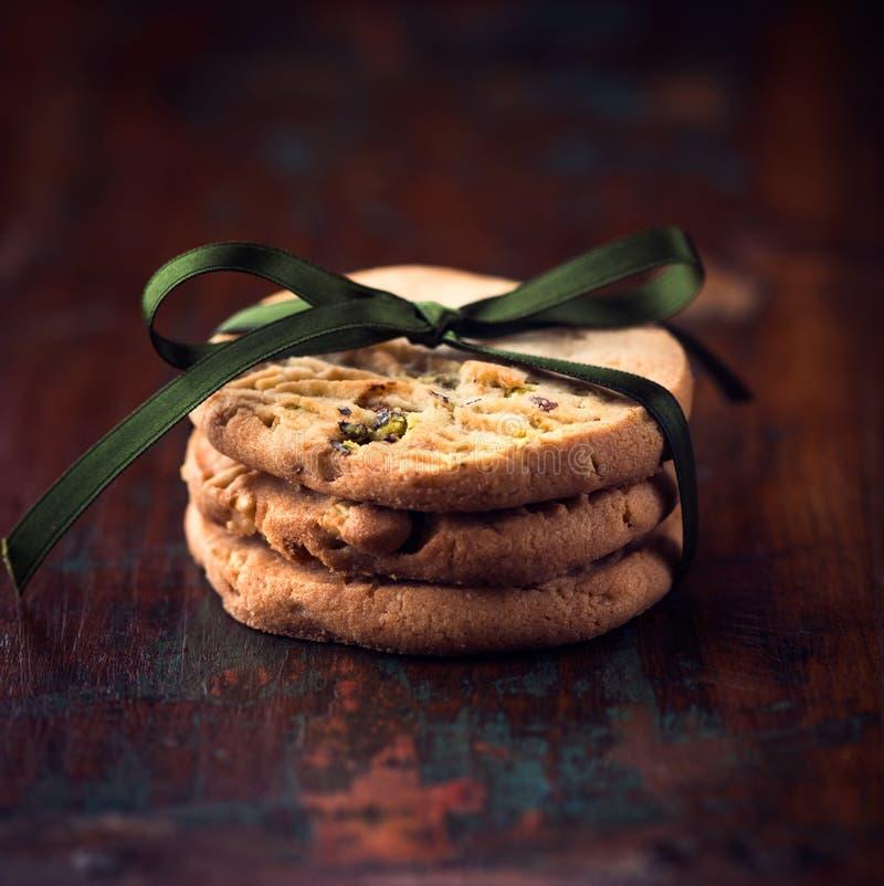 Biscotti del pistacchio immagini stock