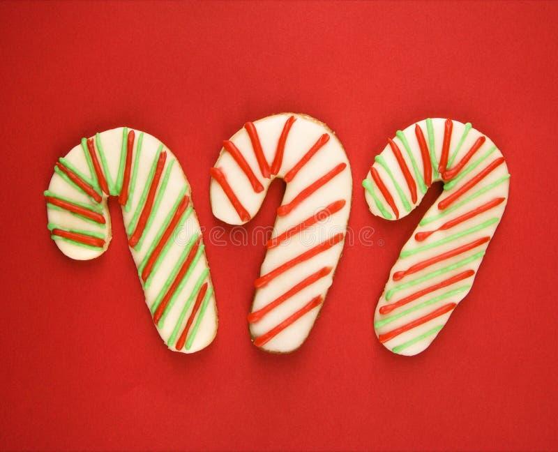 Biscotti della canna di caramella. fotografie stock