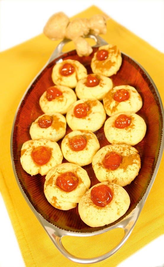 Biscotti della cannella e dello zenzero immagine stock