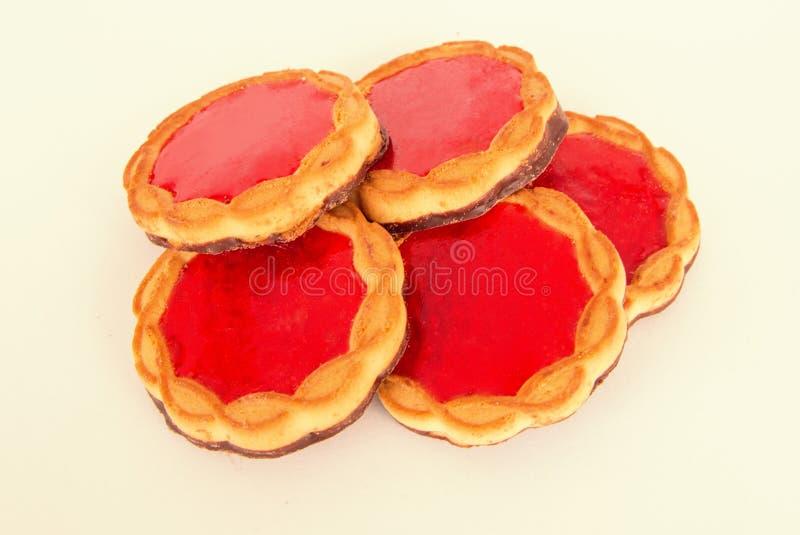 Biscotti della fragola fotografie stock libere da diritti