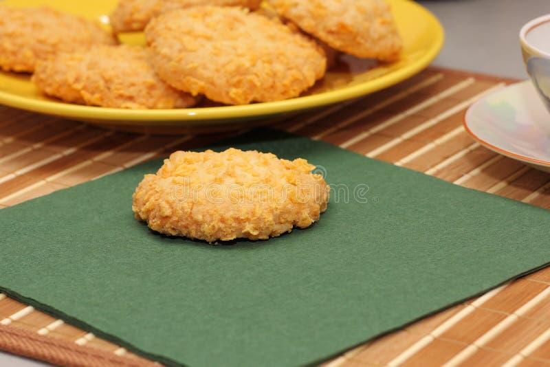 Biscotti della noce di cocco immagini stock libere da diritti
