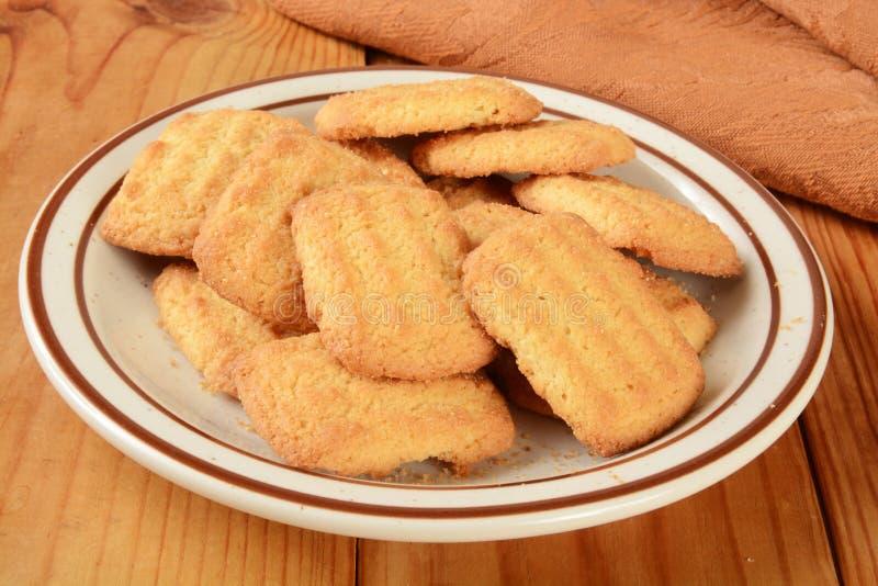 Biscotti della noce di cocco fotografia stock libera da diritti