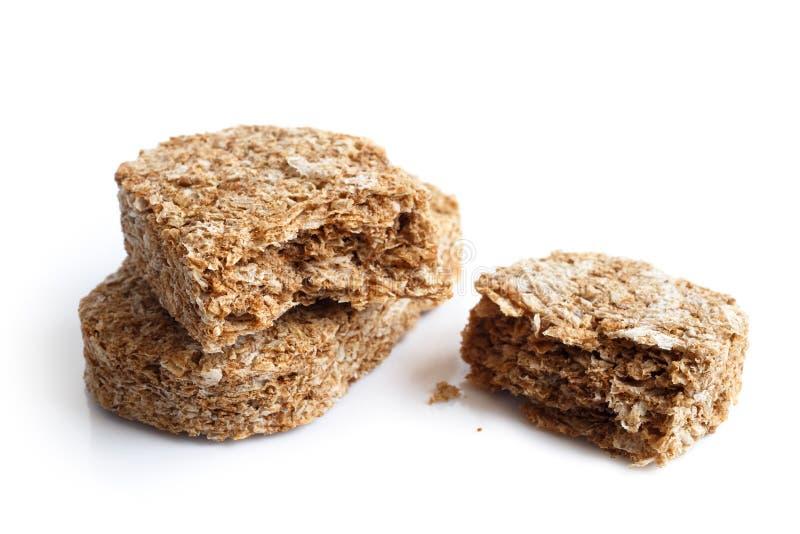 Biscotti della prima colazione del grano intero fotografie stock libere da diritti