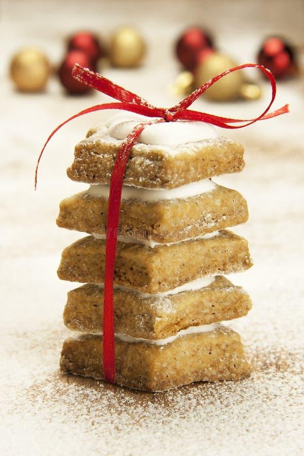 Biscotti dello zenzero di Natale fotografie stock libere da diritti