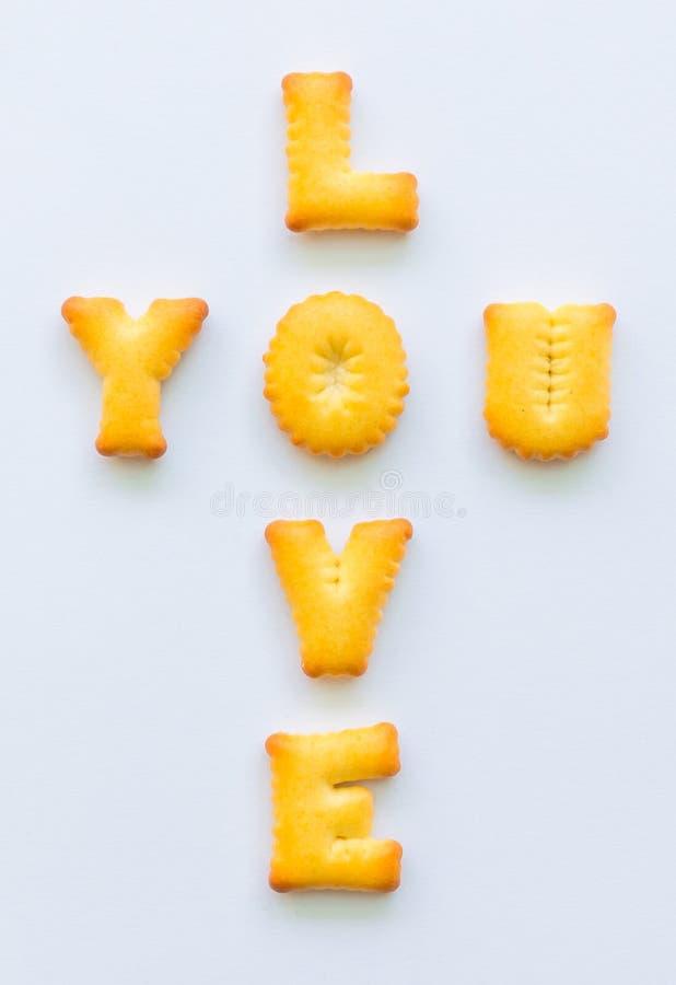 Biscotti di alfabeto fotografia stock libera da diritti