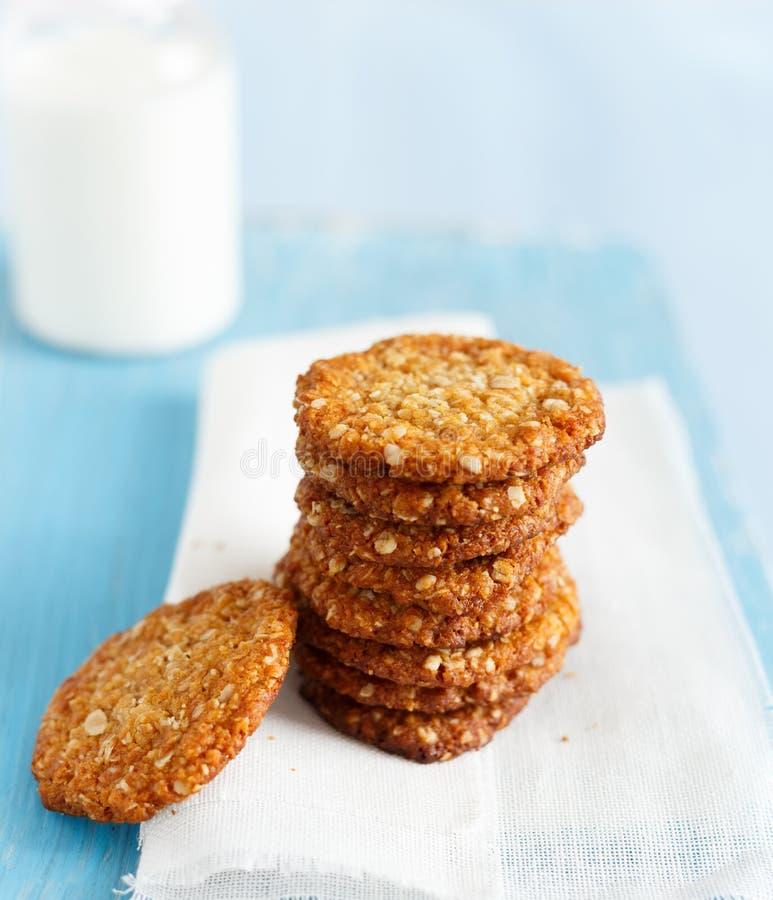 Biscotti di Anzac fotografia stock