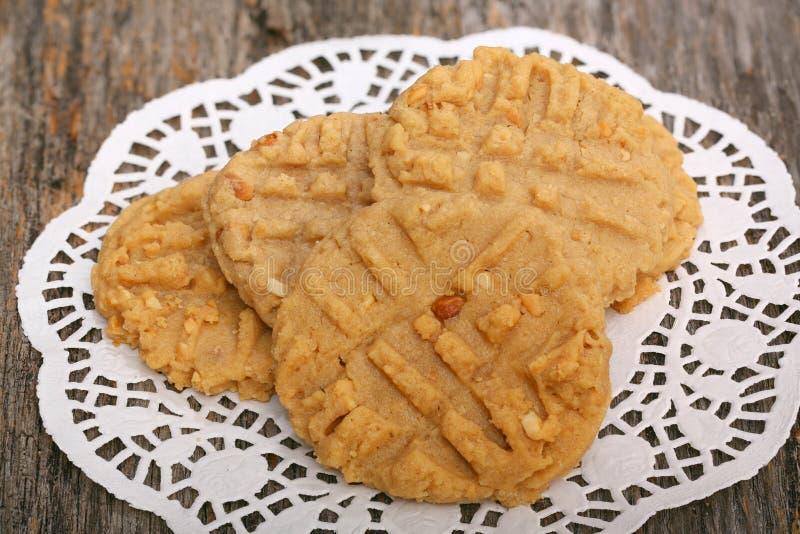 Biscotti di burro di arachidi fotografie stock libere da diritti