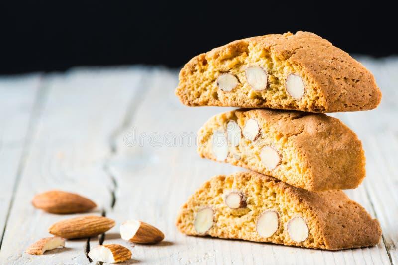 Biscotti di Cantuccini fotografie stock libere da diritti