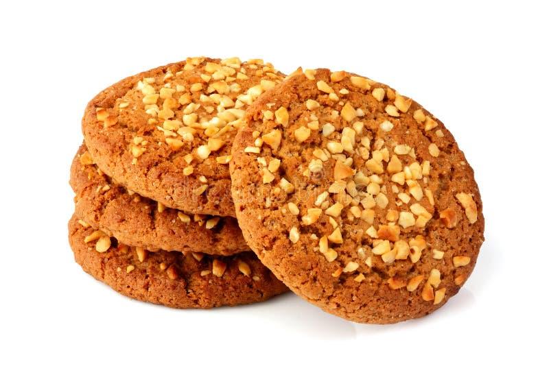 Biscotti di farina d'avena casalinghi immagini stock libere da diritti