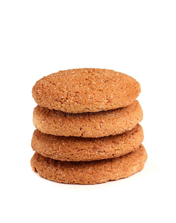 Biscotti di farina d'avena casalinghi. immagine stock