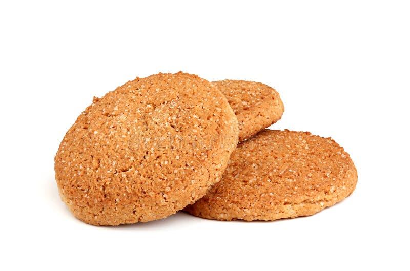 Biscotti di farina d'avena casalinghi. fotografia stock libera da diritti