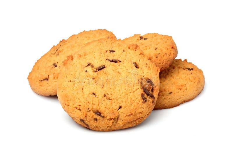 Biscotti di farina d'avena con di pepita di cioccolato fotografie stock libere da diritti