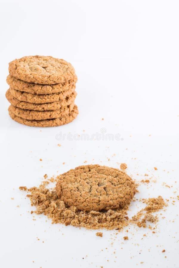 Biscotti di farina d'avena in pila fotografia stock